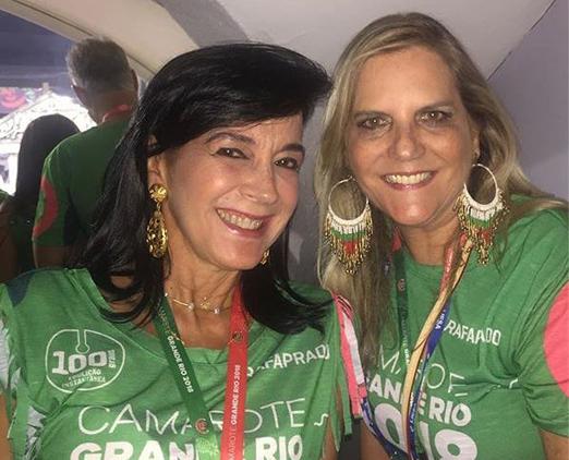 Camarote da Grande Rio - Monica Clark e Maninha Barbosa