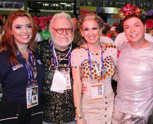 Fernanda D'Avila, Ricardo Amaral, Adriana Alves e David Brazil