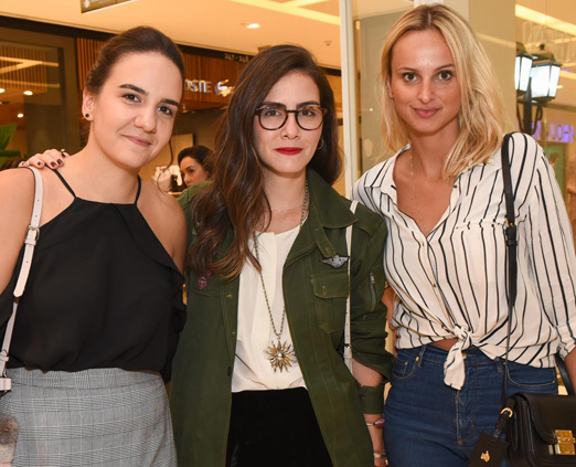Fernanda Jacob, Camila Almeida e Fabiana Abrusio