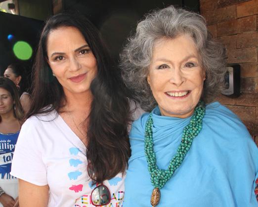 Luiza Brunet e Gisella Amaral