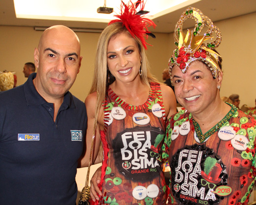 Marcelo Alves, Jéssica Rodrigues e David Brazil
