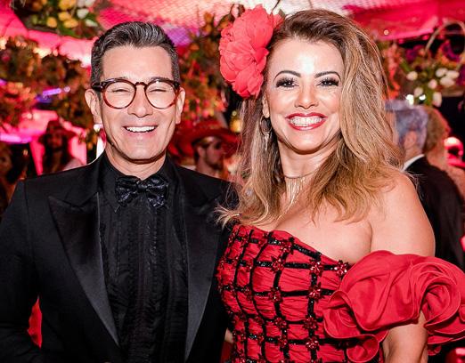 Marcelo Hicho e Paloma Perdigão