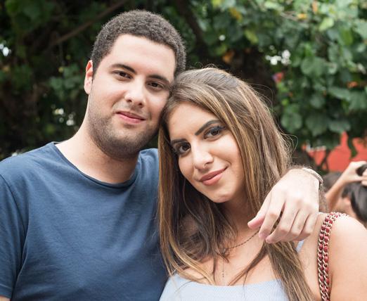 Pablo Gomes e Julia Lattouf