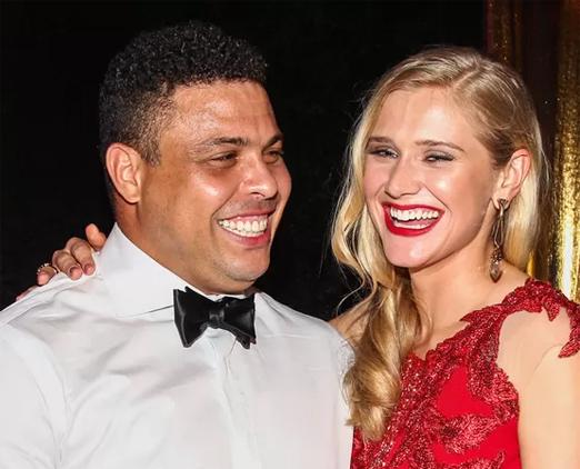 Ronaldo Nazário e Celina Locks