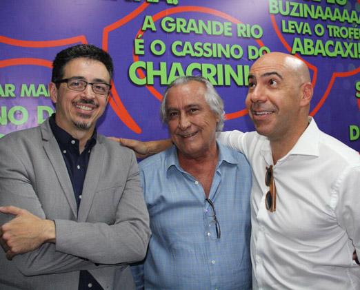 Sérgio Sá Leitão, Leleco Barbosa e Marcelo Alves