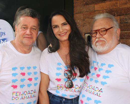 Waltinho Guimarães, Luiza Brunet e Ricardo Amaral