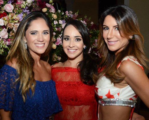 Danubia D'Avilla, Fernanda Barata e Michele Dias