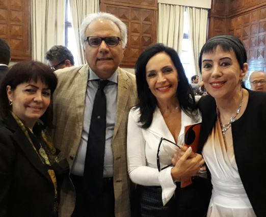 Maria Luiza Nobre, Franklin Toscano, Liliana Rodriguez e Yacy Nunes